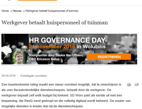 HR Alert – Werkgever betaalt huispersoneel of tuinman