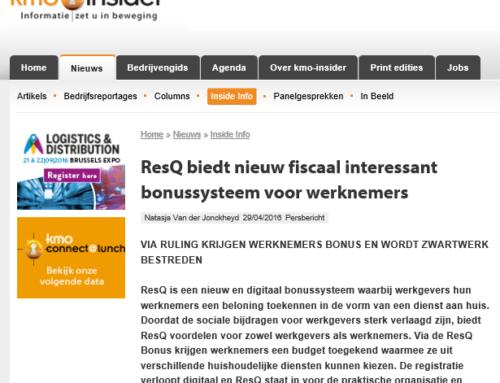 KMO Insider: ResQ biedt nieuw fiscaal interessant bonussysteem voor werknemers