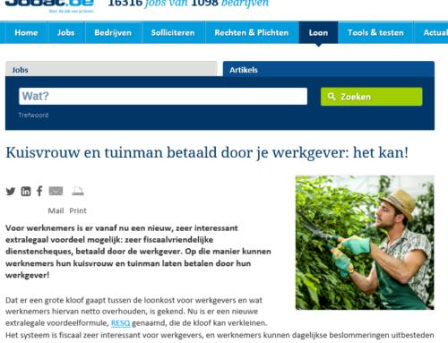 Jobat.be – Kuisvrouw en tuinman betaald door je werkgever: het kan!